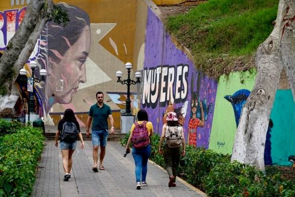 Murales feministas en Barranco