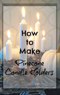 How to Make Pinecone Candle Holders - a purdy little house