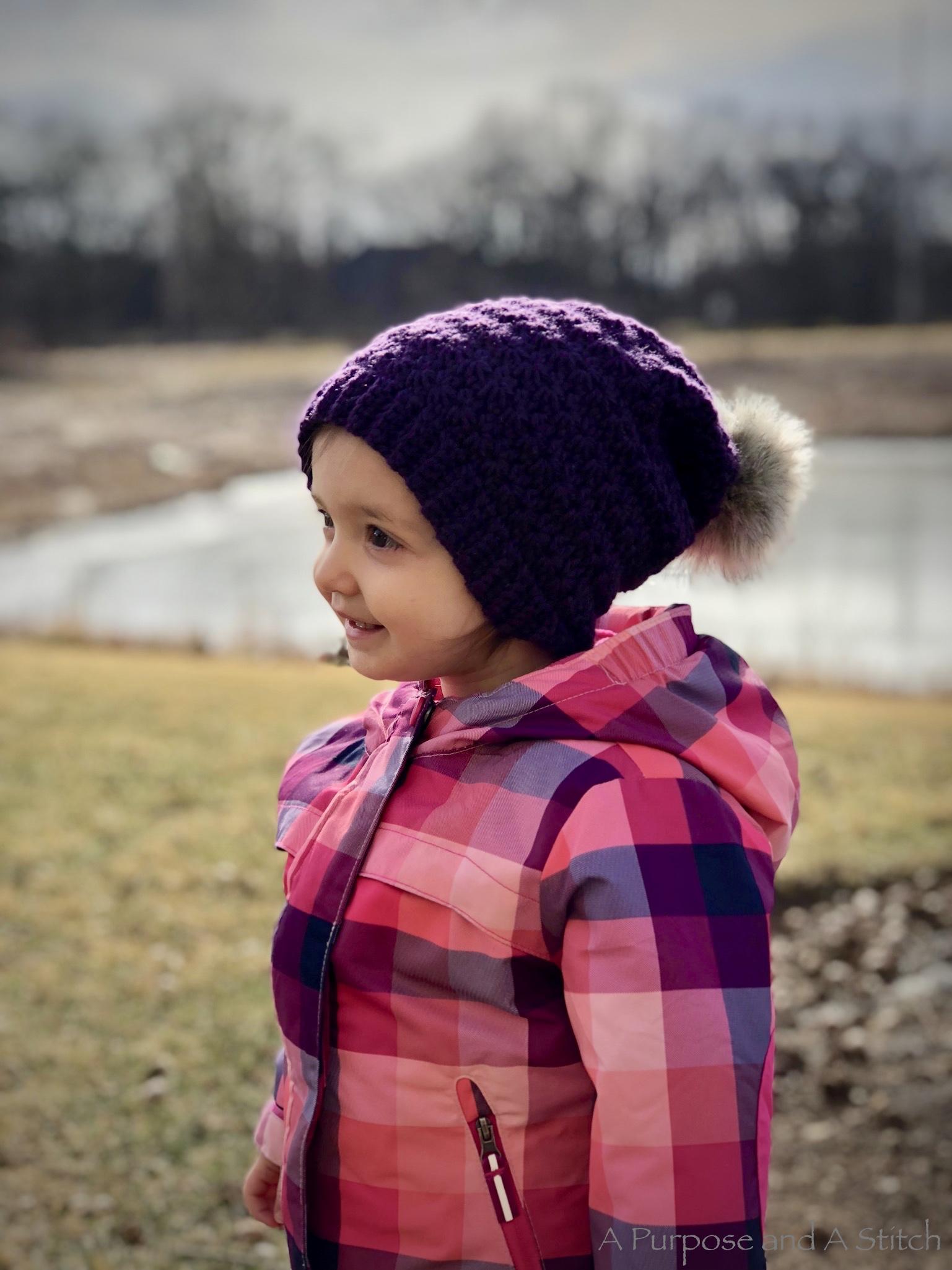 Toddler Star Stitch Slouchy- Free Pattern