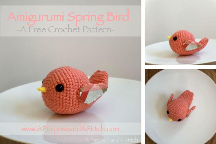Amigurumi Spring Bird 3