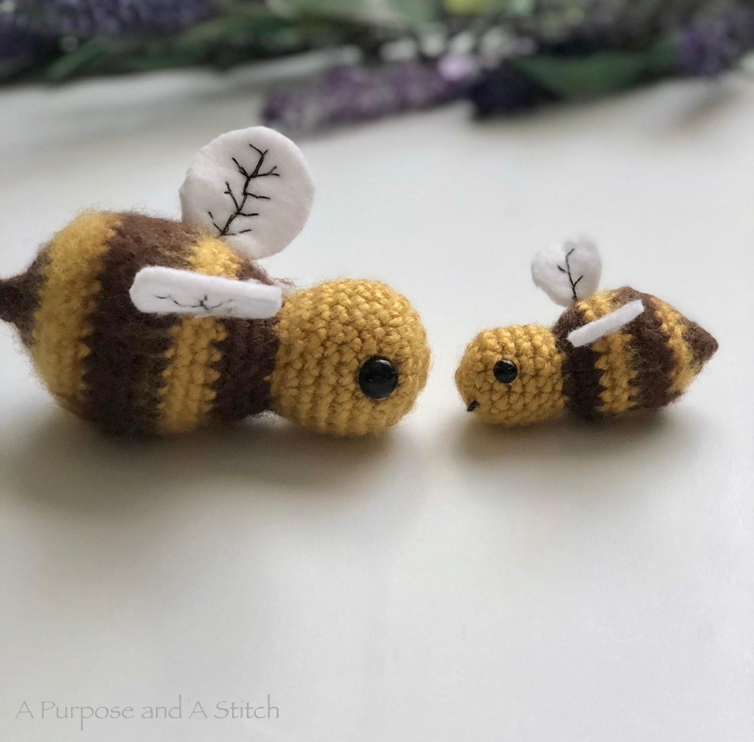 Honey Bee Amigurumi- 2 Different Ways Free Pattern