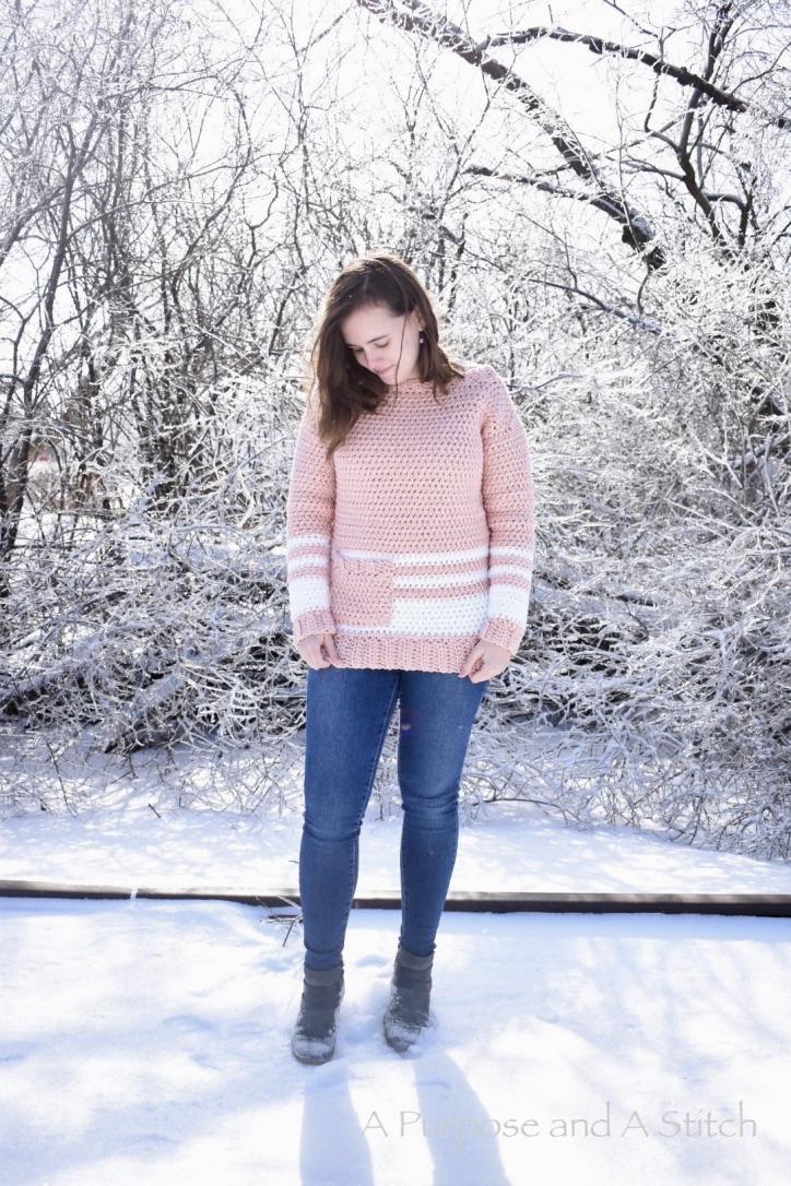 Easy Crochet Pullover-Blog Post