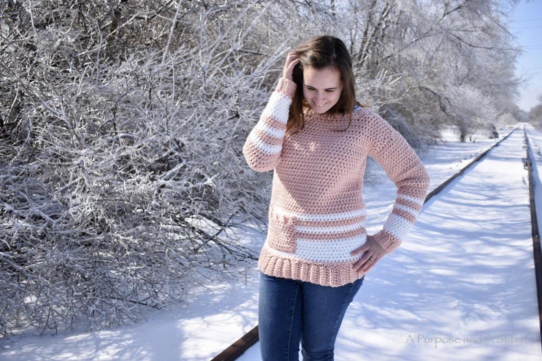 Easy Crochet Pullover- Free Crochet Pattern