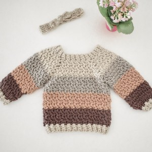 El's Top Down Sweater- Blog Post