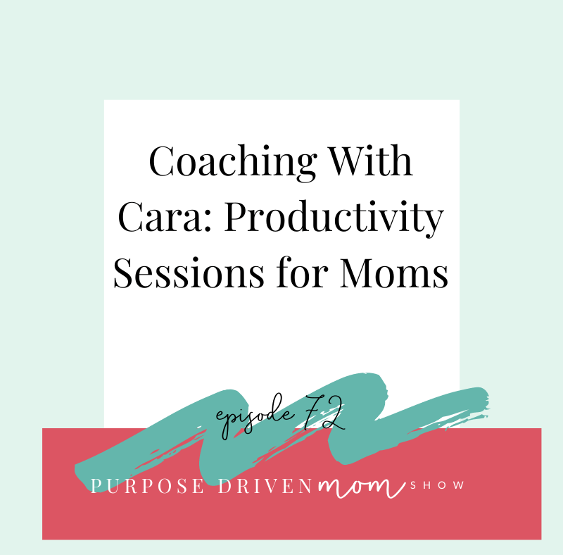 Coaching with Cara: Productivity Sessions with Moms