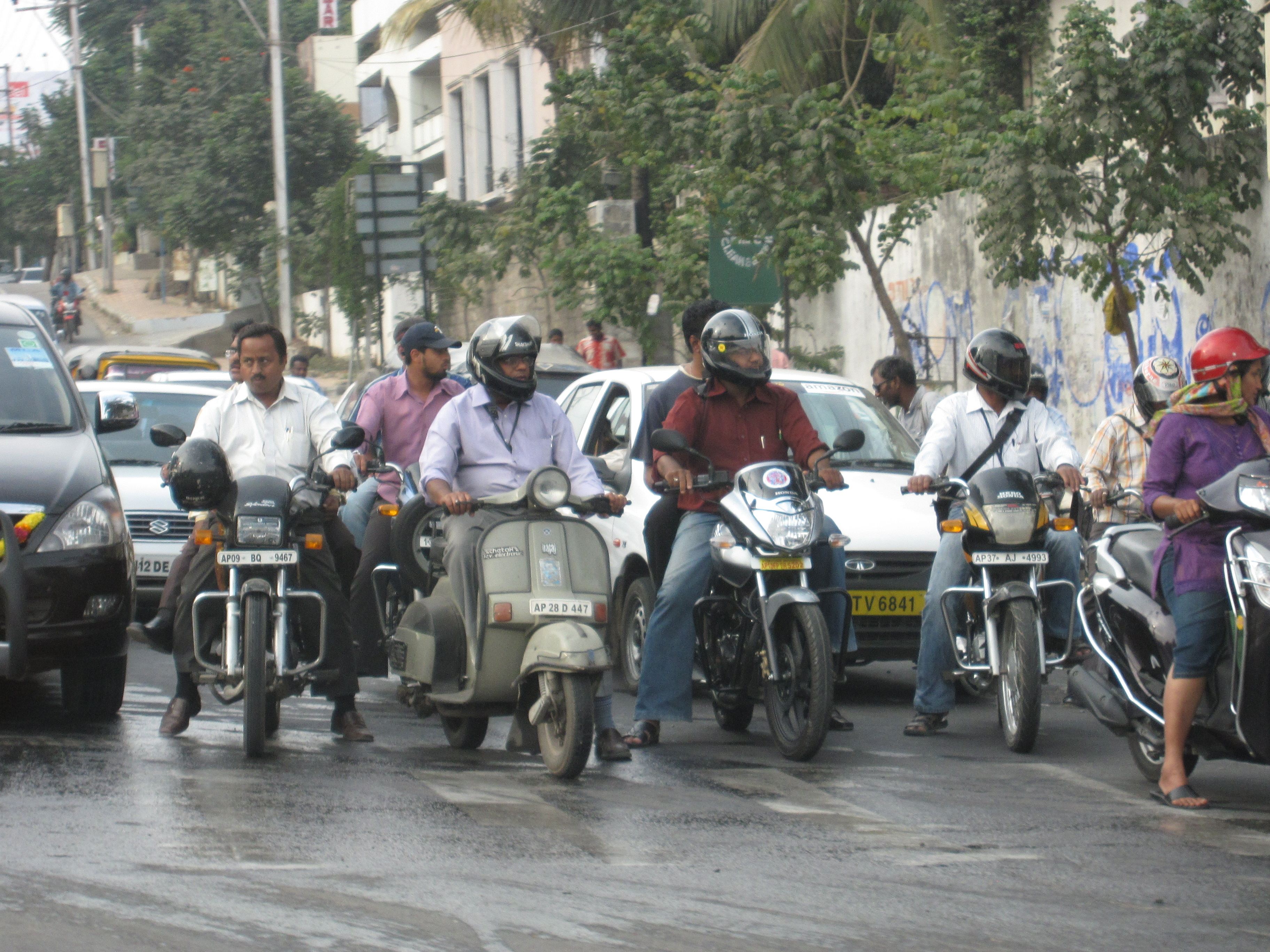 Intersection in Hyderabad