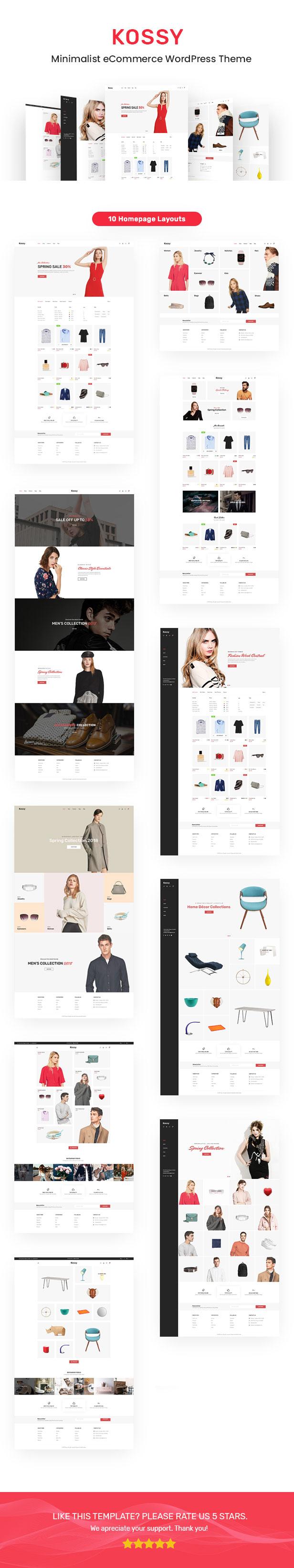 Kossy - Minimalist eCommerce WordPress Theme - 1
