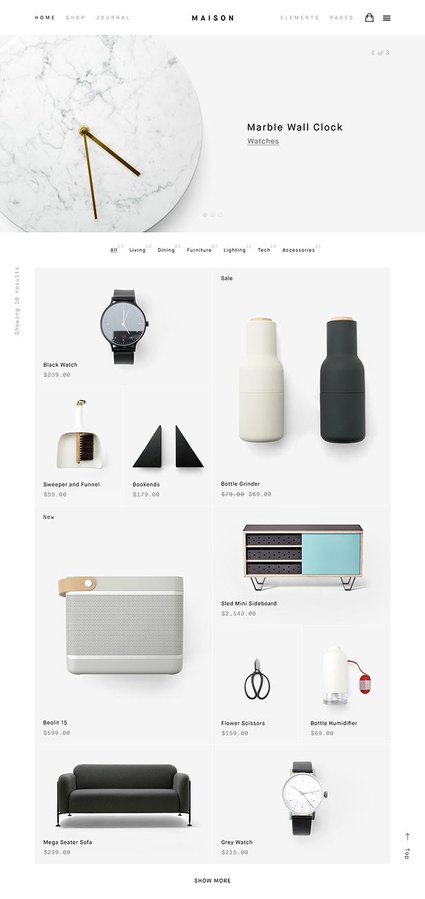Maison - Minimalist eCommerce WordPress Theme - 1
