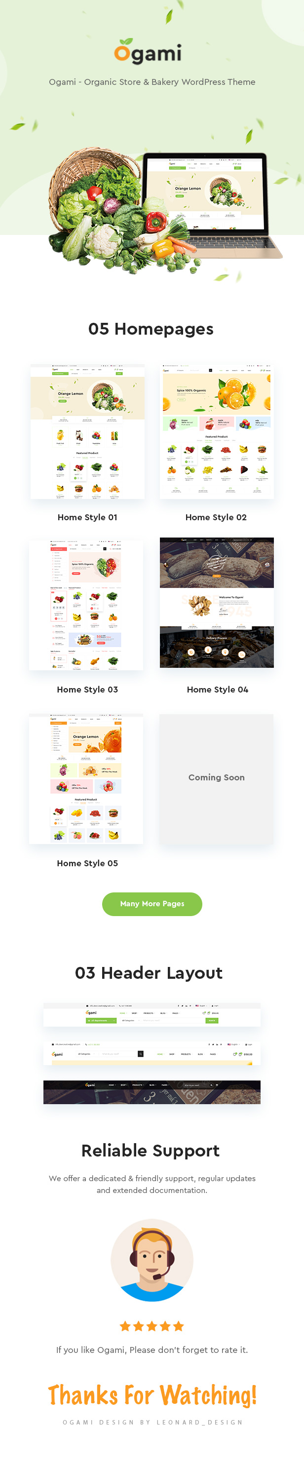 Ogami - Organic Store WordPress Theme - 4