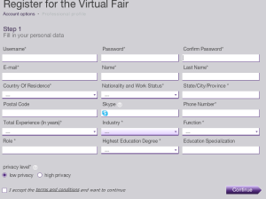 virtual job fair registration
