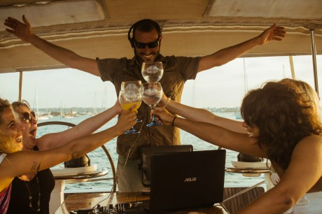 APZmedia - stills from Antlos Betteronboard in Ibiza