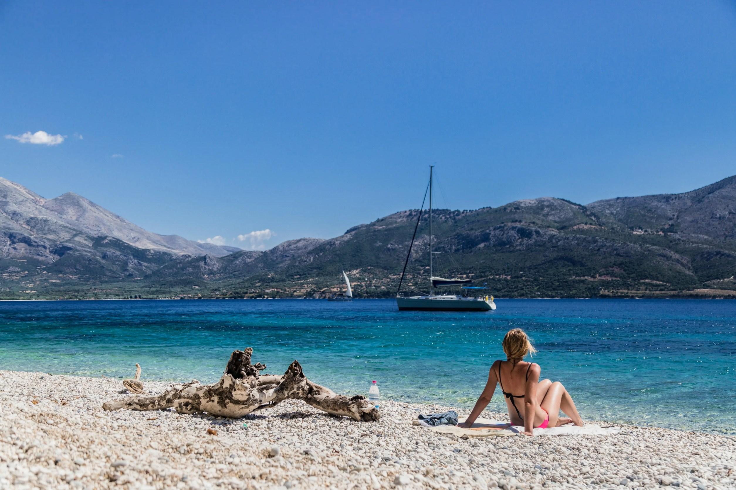 APZmedia - stills from Antlos Betteronboard in Lefkadas, Greece