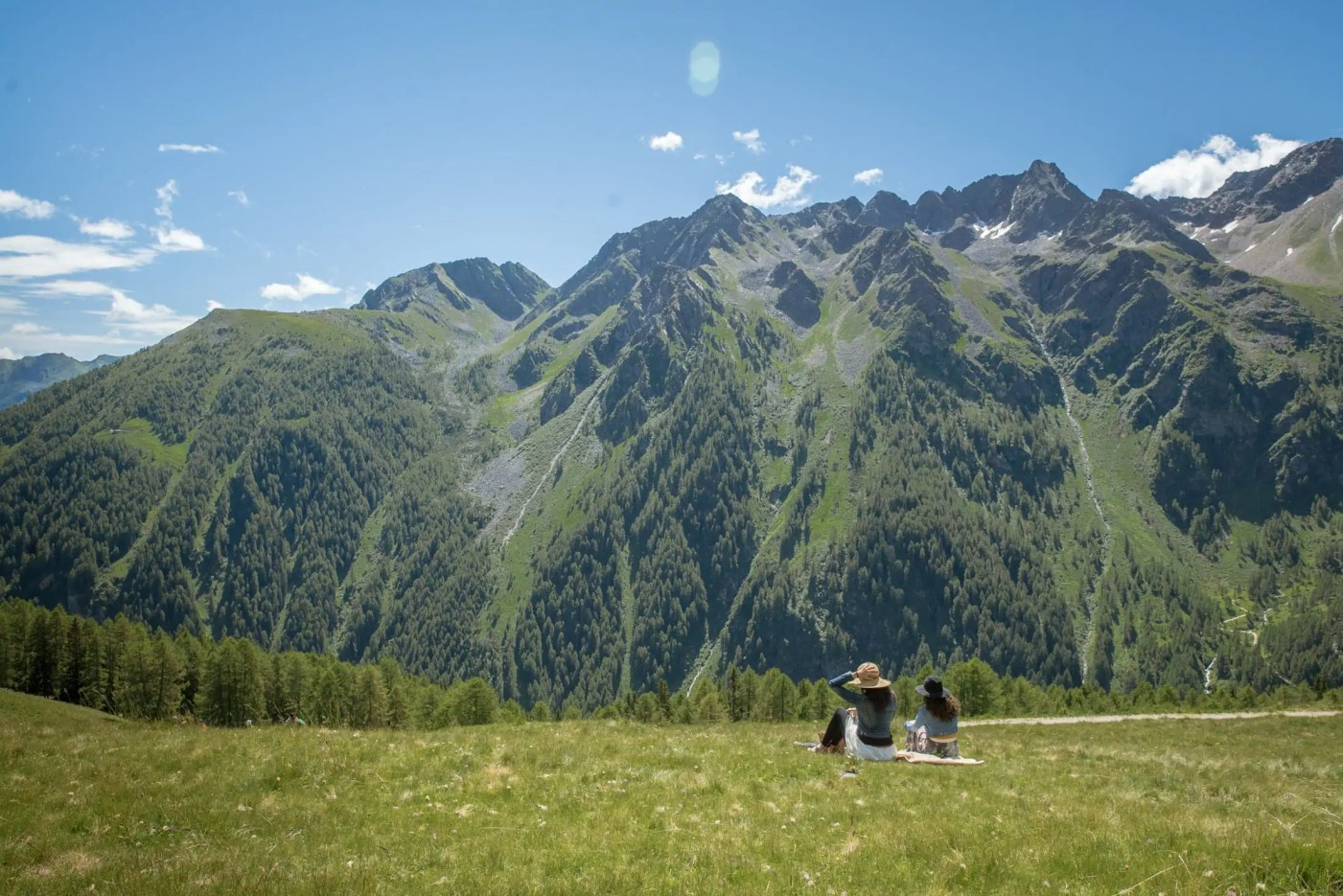 Stills from the shooting of Val di Sole 2017 travel video campaign