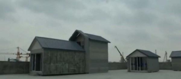 منازل طينية بإستخدام الطابعة