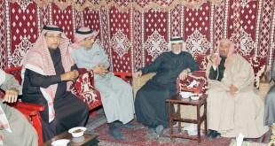 العلي وابن حافظ والمنقور والجبالي خلال الحفل.