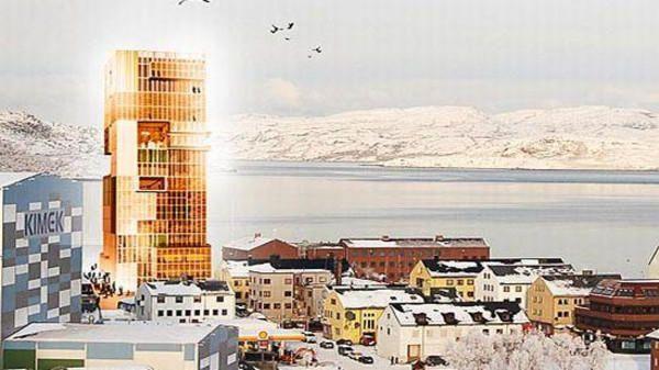 اعلى برج خشبي في النرويج