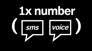 image: Simple: 1 number for SMS and voice