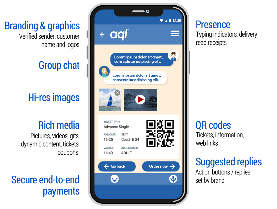 image: RCS messaging features