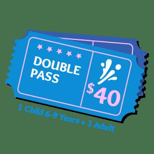Double Pass Aqua Fun Park Water Fun Park for kids & adults