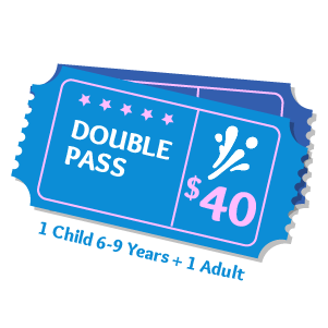 Double Pass Aqua Fun Park Water Fun Park for kids & adults