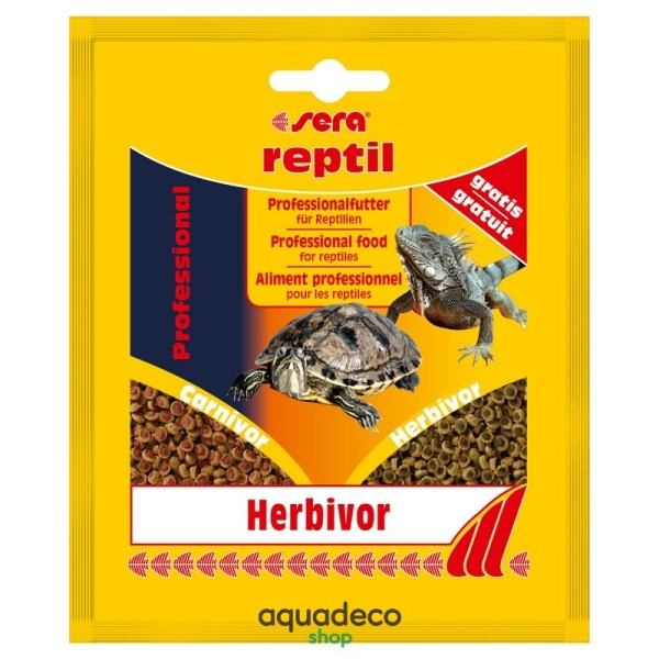 Sera reptil Profess. Herbivor - корм для травоядных. рептилий 20 г: купить в Киеве с доставкой