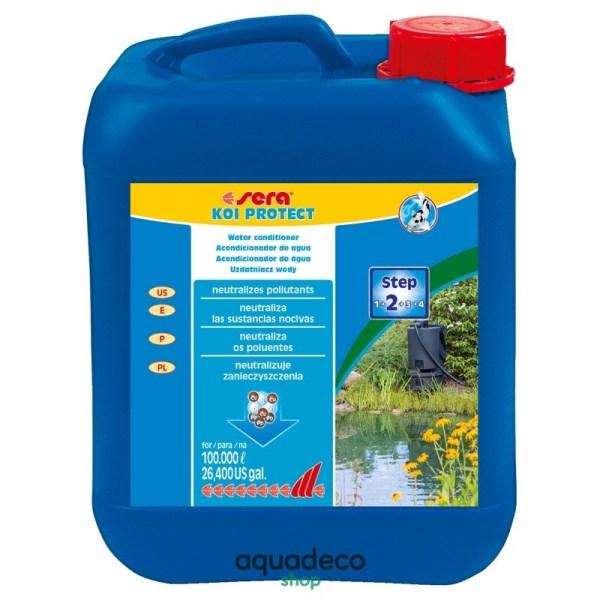 Sera KOI protect - защищает слизь. оболочку от агрессивных веществ на 100 т - 5000 мл: купить в Киеве с доставкой