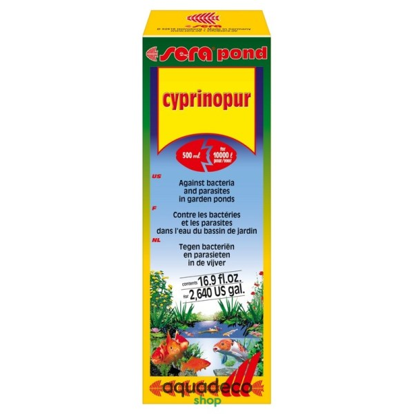 Sera pond cyprinopur - против брюш.водянкы и карп-х вшей на 10 т-500 мл: купить в Киеве с доставкой