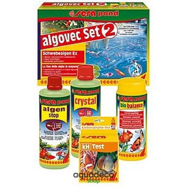 Sera pond algovec Set 2 - комплект для удаления плваючих водорослей на 5000 л: купить в Киеве с доставкой