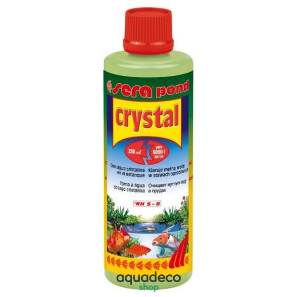 Sera pond crystal - устраняет мутность воды в пруду на 5 т - 250 мл: купить в Киеве с доставкой