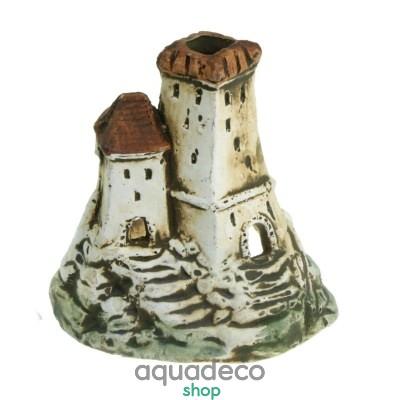 Купить Грот керамический Aqua Nova развалины замка на скале 19,5x9x6,9см в Киеве с доставкой по Украине