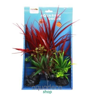 Купить Искусственное растение Yusee Травянистые растения 18x9x30см в Киеве с доставкой по Украине