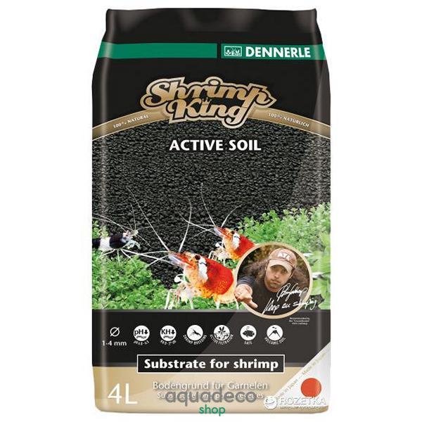 Активный донный грунт для пресноводных аквариумов с креветками Shrimp King  Active Soil 1-4 mm, 4 литра: купить в киеве, цена, фото, обзор, инструкция. Aqua-Deco.com.ua