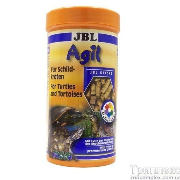Основной корм в форме палочек JBL Agil для водных черепах размером 10-50 см