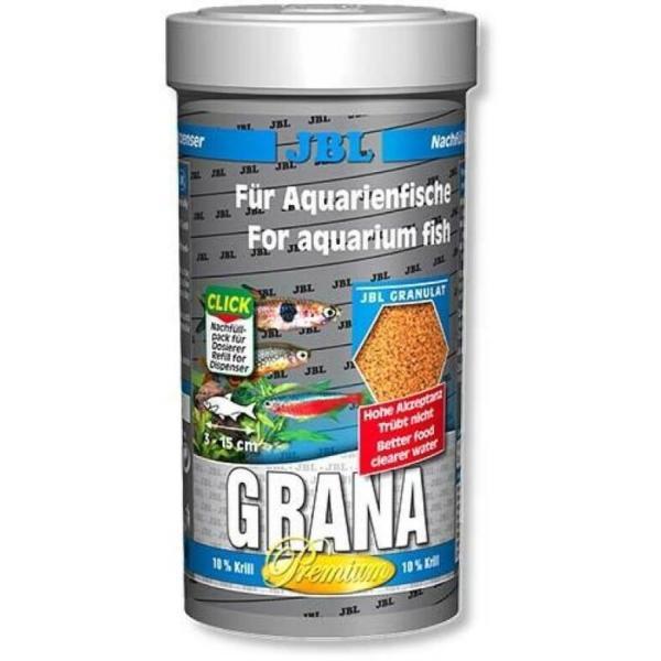 JBL Grana основной премиум-корм в форме гранул для небольших рыб, 250 мл