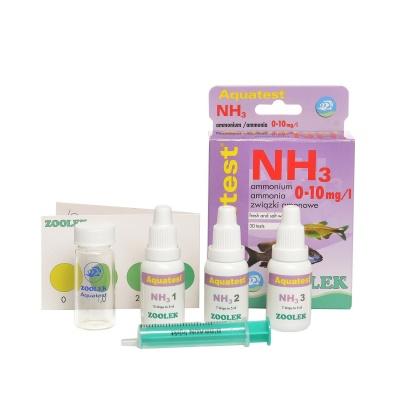 Тест содержания аммония - аммиака (NH3_NH4+) ZOOLEK Aquatest NH3  (ZL1050) 1050 aquatest nh3 components AquaDeco Shop