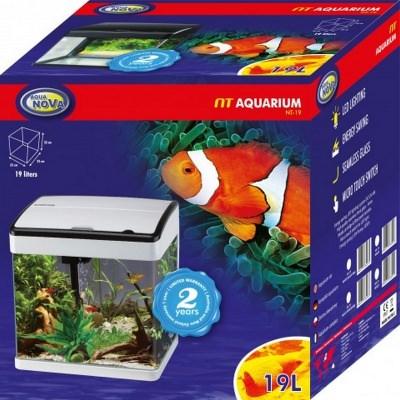 Аквариум AQUA-NOVA NT LED  (NT-19 BLACK+W) NT AquaDeco Shop