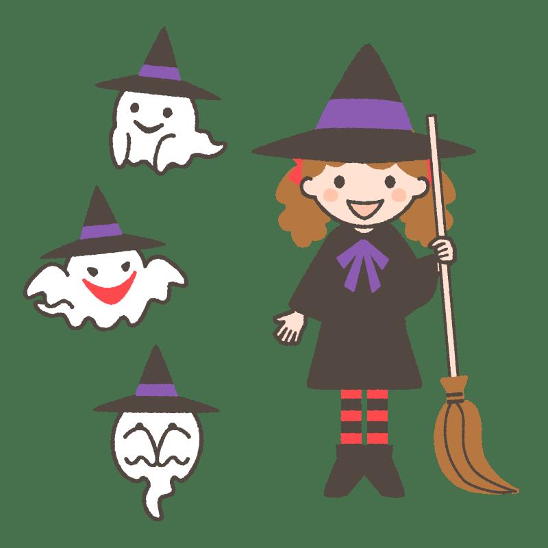 ハロウィンのイラストまとめ!かわいい魔女やかぼちゃを無料で