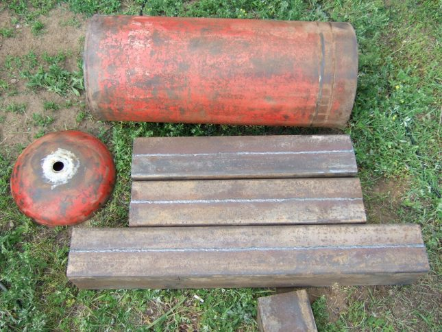 Пиролиз қазандығы үшін газ цилиндрін кесу