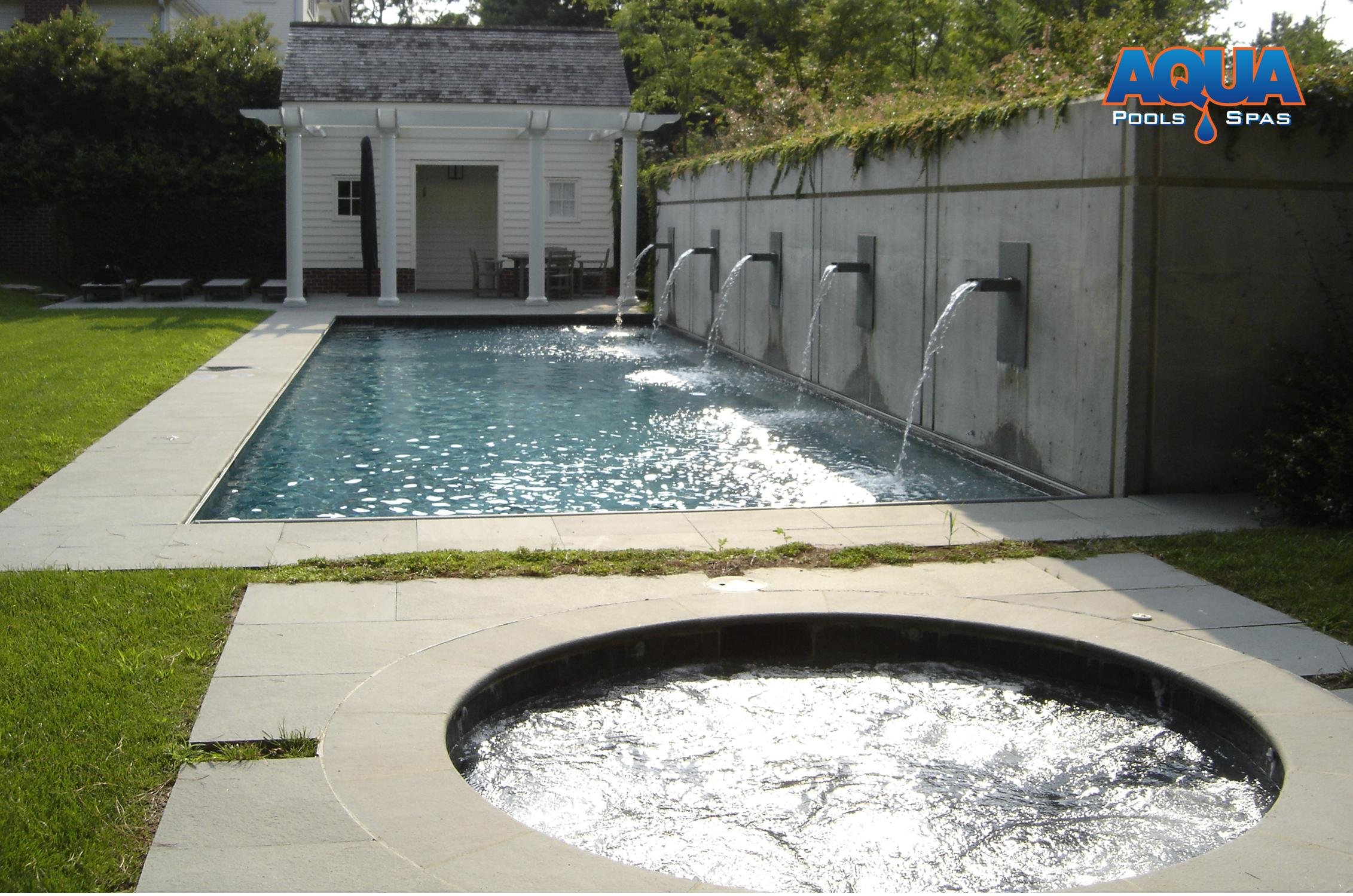 Custom Spas Custom Gunite Hot Tubs AQUA Pools  Spas Easton Maryland