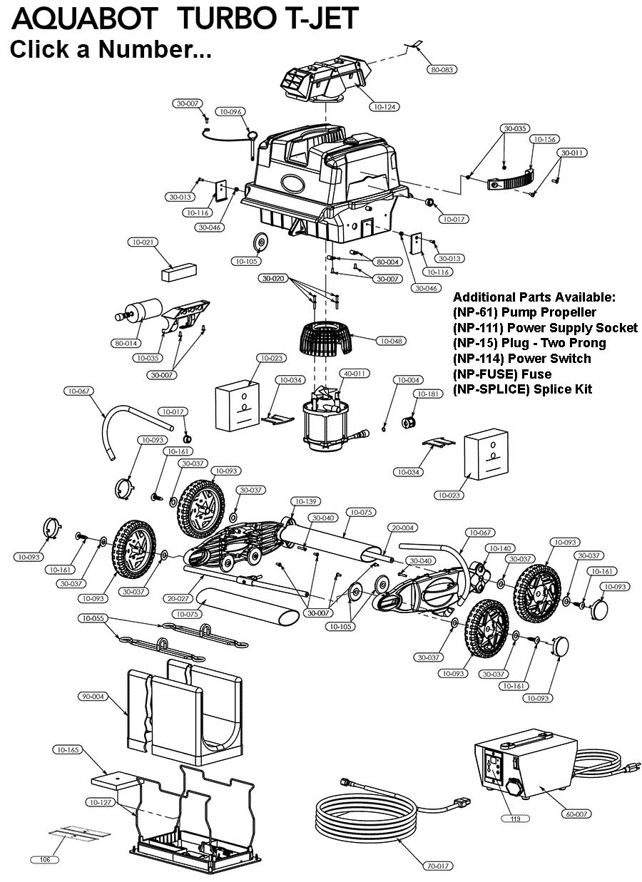 Aquabot Turbo Tjet Parts Aquabots.com