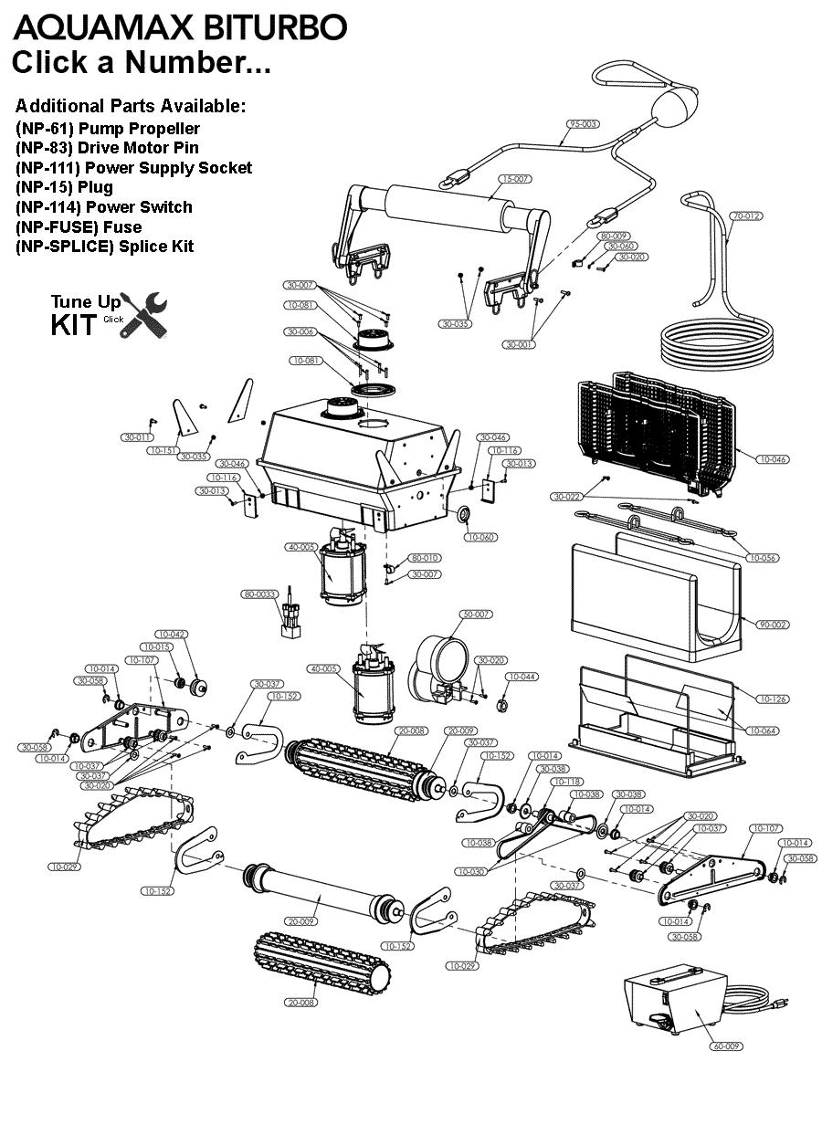 Parts for Aquamax Biturbo Aquabots.com