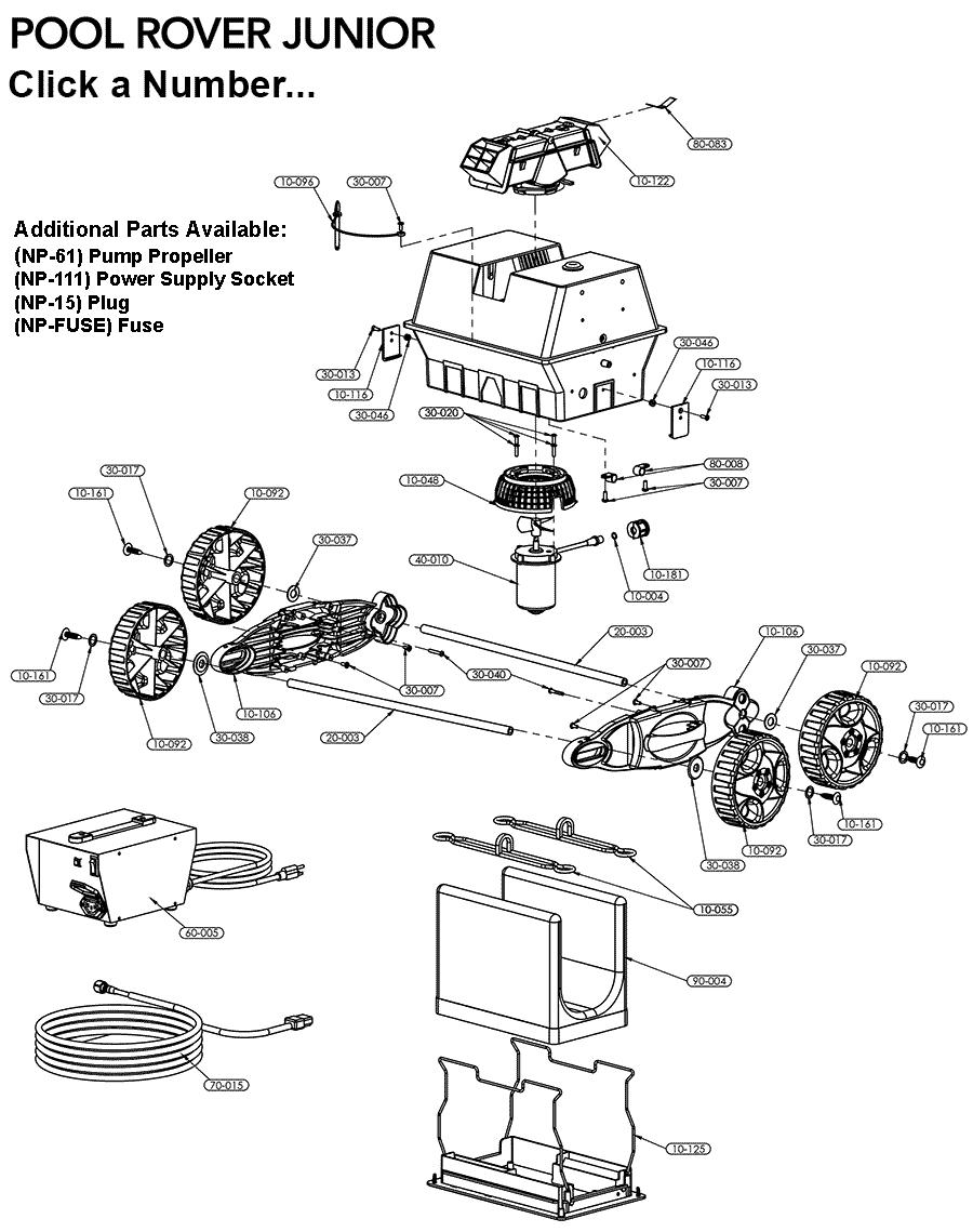 Parts for Pool Rover Jr Aquabots.com