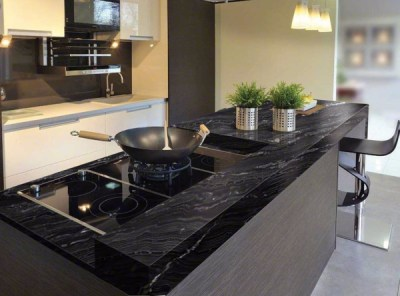 Image result for black granite countertops