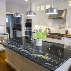 Granite Kitchens Cheap Kitchen Cabinets Black Countertops Luxurious Look For A Daring Touch Of Sophistication To The