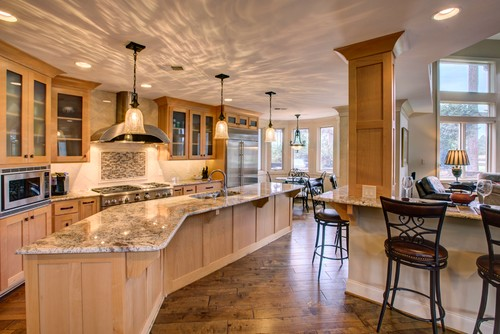 light maple kitchen cabinets fire station netuno bordeaux granite countertop installation in ...