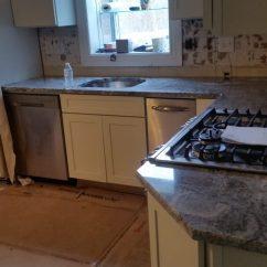 Estimate For Kitchen Cabinets Amazon Undermount Sink Viscont White Granite Countertop Installation In Wanaque, Nj
