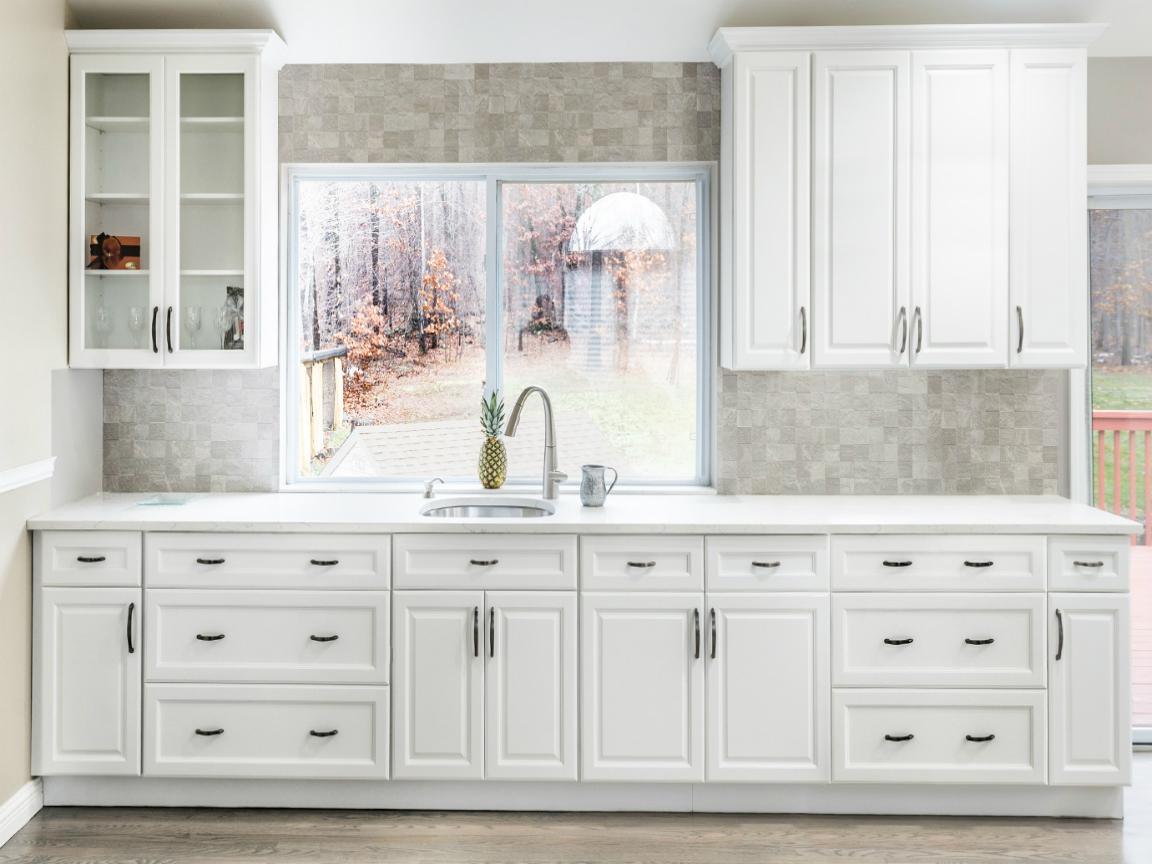 Hallmark Frost Fabuwood Kitchen Cabinets Top Notch