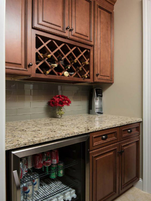 Fabuwood Wellington Cinnamon Kitchen Cabinets Solid WoodTop Design