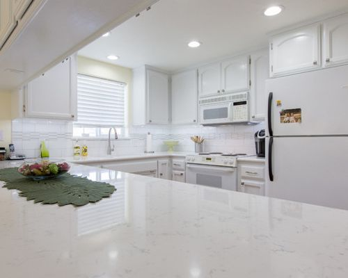 Average Cost Of Granite Countertop Marble Looking Quartz Counters: Beauty And Function
