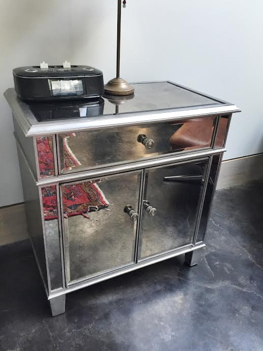 mirrored nightstand